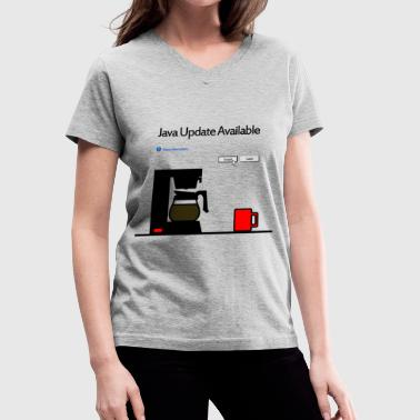 Update Java Update Available - Women's V-Neck T-Shirt