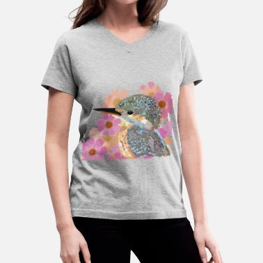 Ave It Ave floral - Women's V-Neck T-Shirt