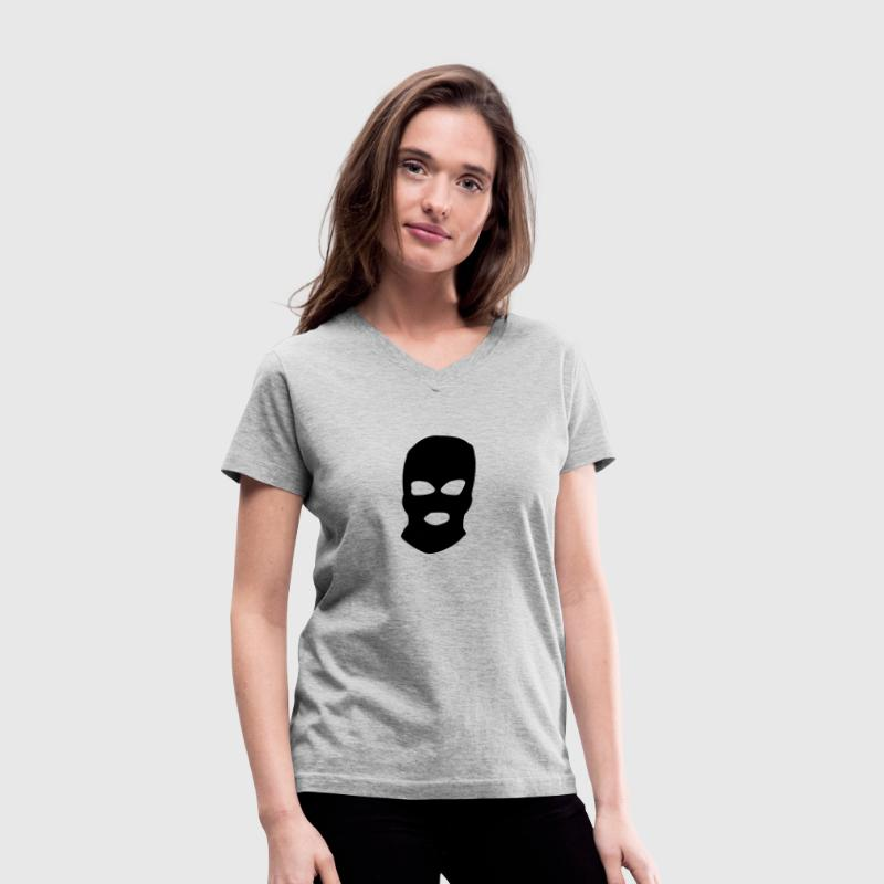 pussy riot mask - Women's V-Neck T-Shirt