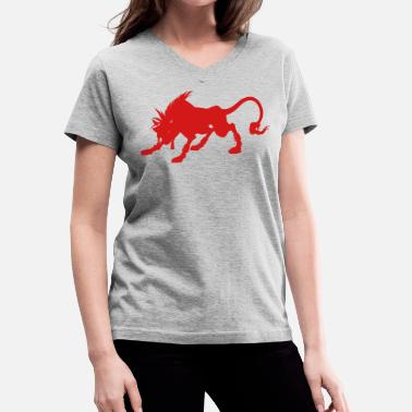 Red Xiii Final Fanyasy VII - Red XIII - Women's V-Neck T-Shirt