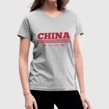 CHINA since 1912 - Women's V-Neck T-Shirt