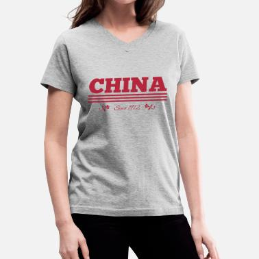 1912 CHINA since 1912 - Women's V-Neck T-Shirt