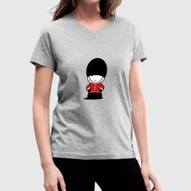 A Royal Guard in London - Women's V-Neck T-Shirt