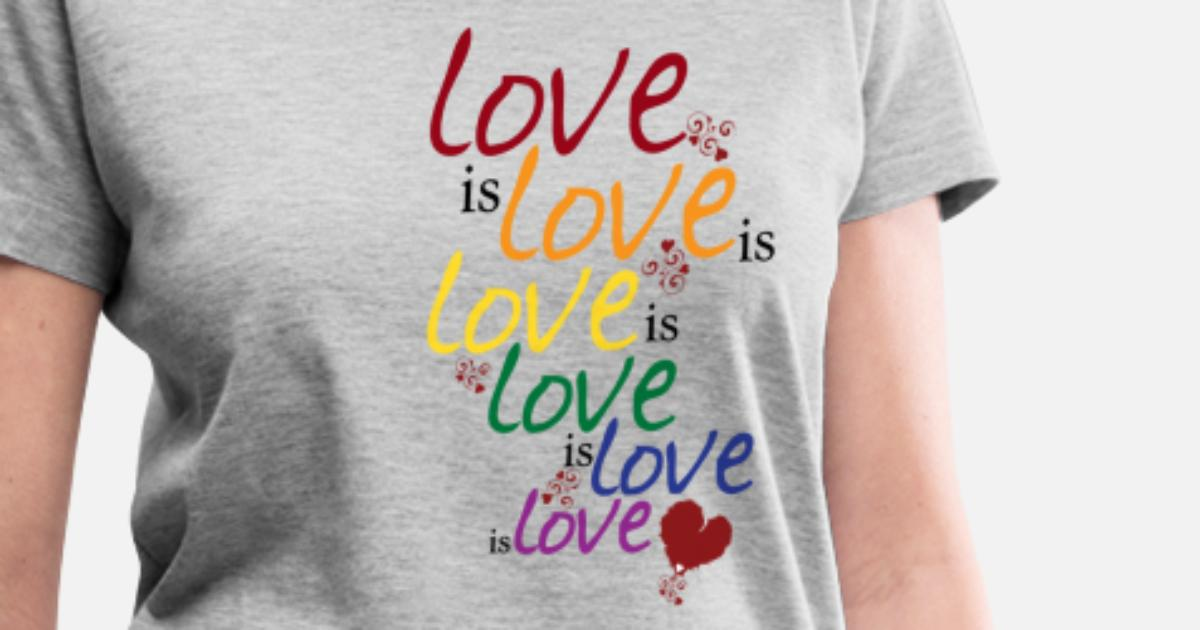 1d1ad7738 Love is love (Gay Marriage) Women's V-Neck T-Shirt | Spreadshirt