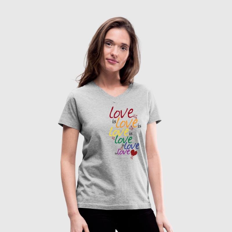 Love is love (Gay Marriage) - Women's V-Neck T-Shirt