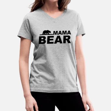 02be315bc0f Mama Bear - Women  39 s V-Neck T-Shirt