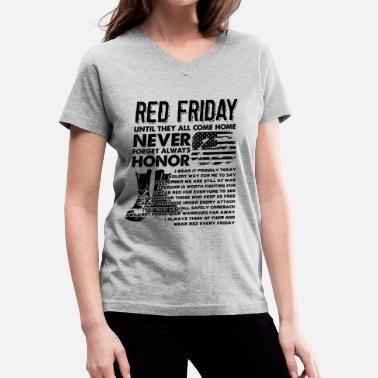 Red Friday Red Friday Shirt - Red Friday Come Home T shirt - Women's V-Neck T-Shirt