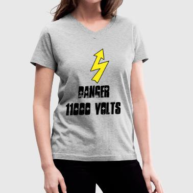 Warning Electricity - Women's V-Neck T-Shirt