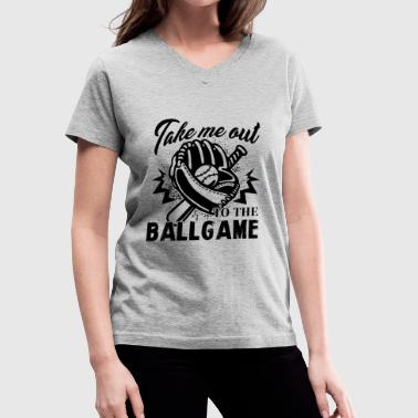 Game Ball Baseball To The Ball Game Shirt - Women's V-Neck T-Shirt