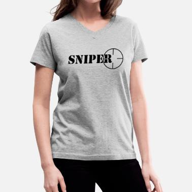 Sniper symbol - Women's V-Neck T-Shirt