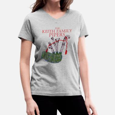 The Keith Family Pipers - Women's V-Neck T-Shirt