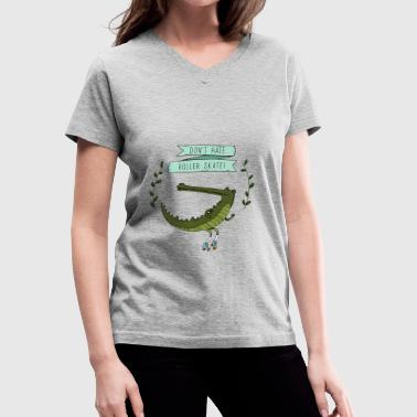 crocodile - Women's V-Neck T-Shirt