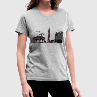 Taipei - Women's V-Neck T-Shirt