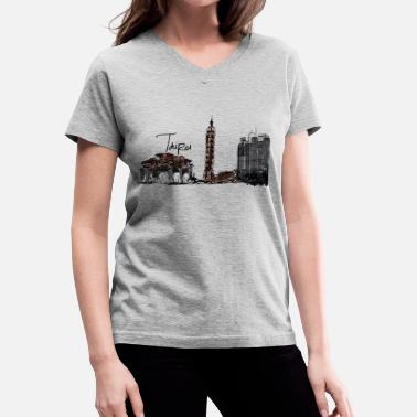 Taipei Taipei - Women's V-Neck T-Shirt