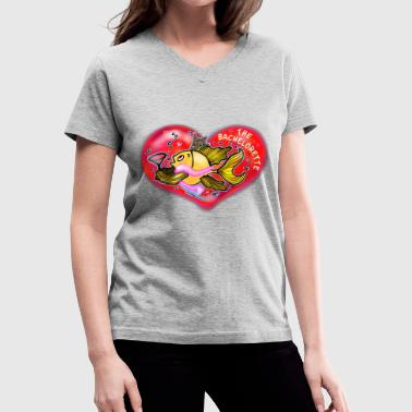 Hens Hen Party Fish, The Bachelorette Fish, By FabSpark - Women's V-Neck T-Shirt