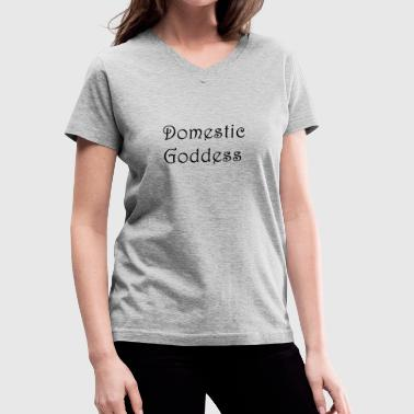 Domestic Goddess - Women's V-Neck T-Shirt