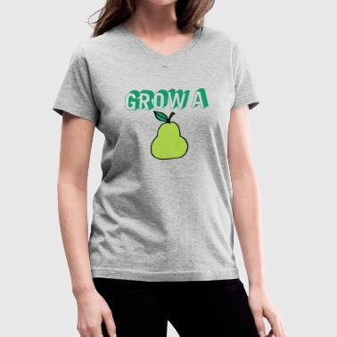 Grow a Pear - Women's V-Neck T-Shirt