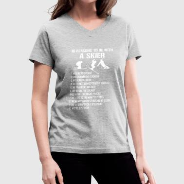 Skier Tee Shirts - Women's V-Neck T-Shirt