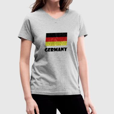 Germany Roots Germany - Women's V-Neck T-Shirt