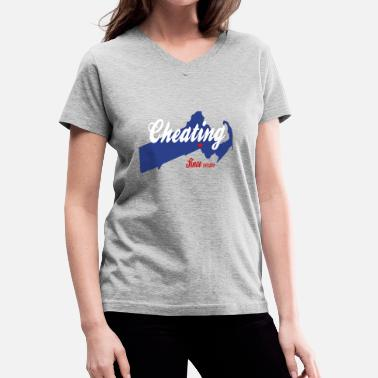 Cheating Cheating Since 1620 Deflategate - Women's V-Neck T-Shirt