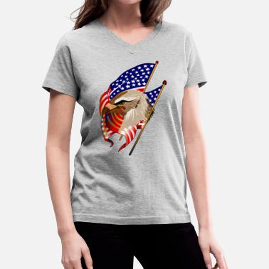 Patriot Patriotic - Women's V-Neck T-Shirt