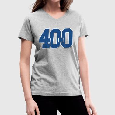 Kentucky Basketball 40-0 National Championship - Women's V-Neck T-Shirt