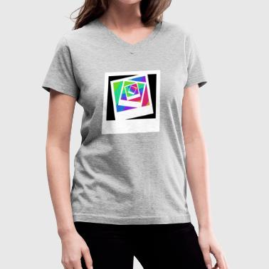 polaroid  in colour - Women's V-Neck T-Shirt