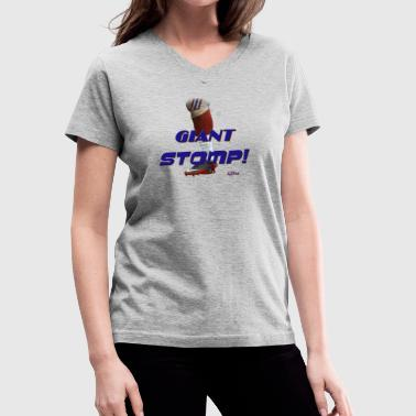 Giant Stomp! - Women's V-Neck T-Shirt