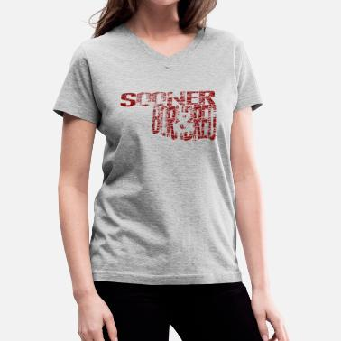 Ou Football Sooner Born & Bred - Women's V-Neck T-Shirt