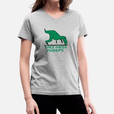 5124247f Shop T-rex Hates Pushups T-Shirts online | Spreadshirt