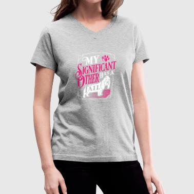 My Significant Other Has A Tail - Women's V-Neck T-Shirt