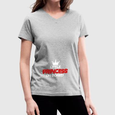 little princess on board - Women's V-Neck T-Shirt