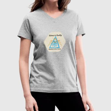 Charlotte Writers: Blue - Women's V-Neck T-Shirt