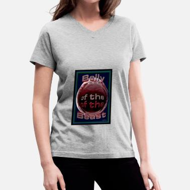 Belly Of The Beast elly of the Beast with logo - Women's V-Neck T-Shirt