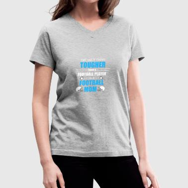 Mom Football Football mom, American Football Mom - Women's V-Neck T-Shirt
