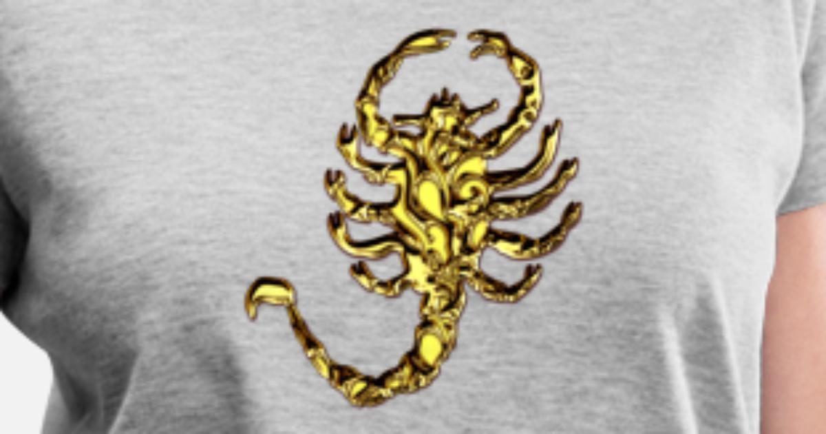 Scorpion Drive Gold Digital Scorpio Women S V Neck T Shirt