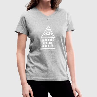 Real Eyes Realize Real Eyes Illuminati - Women's V-Neck T-Shirt