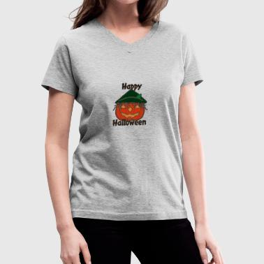 Happy Halloween 2 Poster - Women's V-Neck T-Shirt