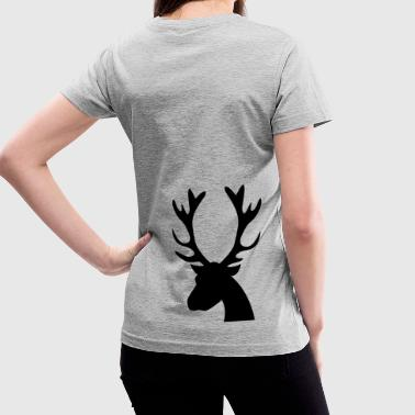 stag head reindeer - Women's V-Neck T-Shirt