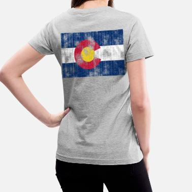 Aged Colorado flag - Women's V-Neck T-Shirt