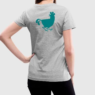 rooster cock new - Women's V-Neck T-Shirt