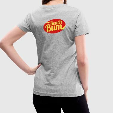 Beach Bum - Women's V-Neck T-Shirt