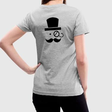 mustache moustache man with eyeglass - Women's V-Neck T-Shirt