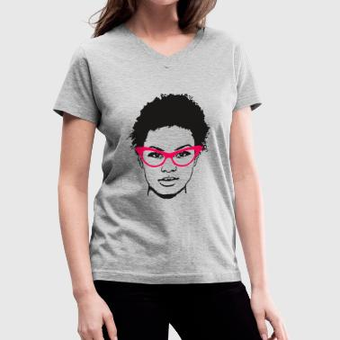 The Pink Glasses - Women's V-Neck T-Shirt