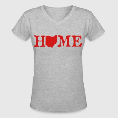 HOME - Ohio - Women's V-Neck T-Shirt