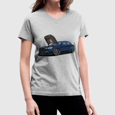 Mitsubishi Lancer Evolution X - Women's V-Neck T-Shirt