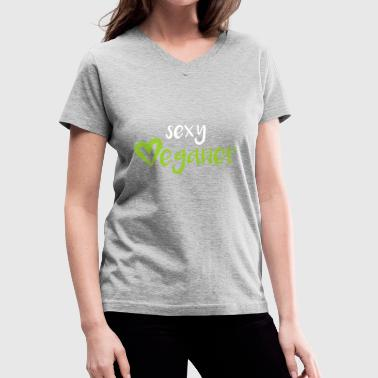 sexy verganer - Women's V-Neck T-Shirt