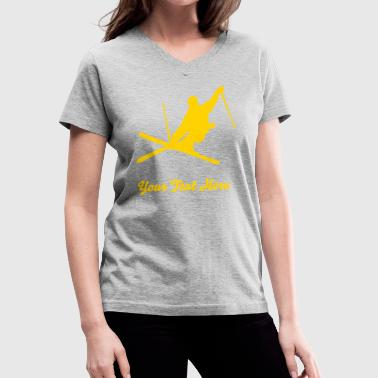 skier - Women's V-Neck T-Shirt