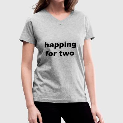 Happing For Two - Women's V-Neck T-Shirt