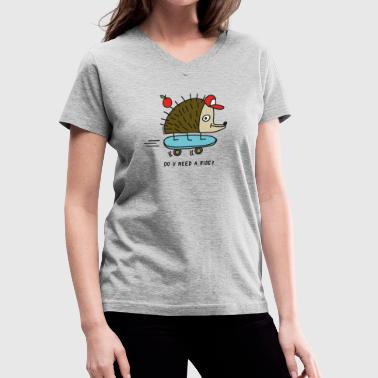 Do u need a ride? by Cheslo - Women's V-Neck T-Shirt